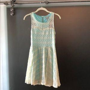 American Rag cream and blue dress